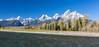 Autumn's Tricolor (E.K.111) Tags: panorama river mountains nature nationalpark landscape autumn sky skyabove yellow grandteton water trees usa canon5dmarkiii