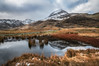 White mountain...Crib Goch. (Einir Wyn Leigh) Tags: landscape wideangle colorful snow weather december winter rural walk nature light water puddle foliage grass wales nikon sigma mountains gold orange blue natural path rocks cymru uk snowdonia nationalpark