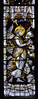 Ripple, Worcestershire, St. Mary's church, east window, annunciations, detail (groenling) Tags: ripple worcestershire worcs england britain greatbritain uk gb stmaryschurch chancel choir window stainedglass glass annunciation angel kempe