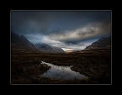 Glen Etive (tkimages2011) Tags: glen etive scotland highlands glencoe water sky clouds sun grass mountains outside landscape texture