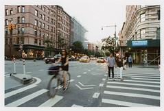 ... (Maggie J Lee) Tags: minoltaxe7 film kodak portra photography newyork newyorkcity nyc epsonv600 rokkor 24mm urban traffic commute mta infrastructure