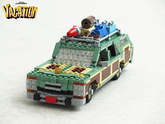 Wagon Queen Family Truckster (Mad physicist) Tags: lego wagon queen truckster national lampoons vacation griswolds stationwagon car family