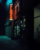 Steve's (Kyle Pozan) Tags: neon sign chicago city street night dusk lowlight film analog analogue shootfilm filmisnotdead mamiya mediumformat 6x7 mamiya7 mamiya7ii 65mm cinestill cinestill800t shootfilmnotmegapixels colornegative