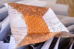 Ready for the ironing board and then we go on to the cutting mat. (balu51) Tags: patchwork sewing quilting quilt wip quiltblock spoolblock scrappy lowvolume textprint brown yellow mustard cream white november 2017 copyrightbybalu51