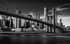 Brooklyn Bridge, Manhattan, New York,  USA (King Grecko) Tags: 10stopfilter america americanculture bw bridge brooklynbridge manhattan nyc newyork skyscraper thebigapple usa americana blackandwhite buidings eastriver engineering icecream longexposure newyorkcity structure suspensionbridge
