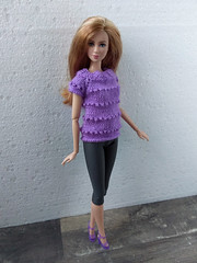 Barbie doll clothes. Violet (Purple) Hand-Knitted Sweater + Gray Leggings. Handmade set for Barbie (uliakiev) Tags: barbie barbiedoll barbiedollclothes barbieclothes barbiesweater barbiecollector barbiecollection barbiefan barbiefashion barbieclothing barbiedolls barbieshop barbiestyle barbiestream barbiecrochet barbieknit dollclothes dollsweater dollknitting