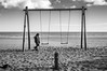 The swing (dono heneman) Tags: swing balançoire jeu game scènedevie scène vie life noiretblanc nb blackwhite gens people human humain enfant children child fille girl ciel sky nuage cloud eau water mer sea mediterranée côte coast plage beach sable sand pneu tire valras hérault languedocroussillon occitanie france pentax pentaxart pentaxk3