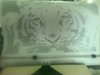 Tigre hecho con signos de maquina de escribir (elartistadelamaquinadeescribir) Tags: tigre maquinadeescribir mecanografia diseño dibujo dibujar arte artesanias manualidad