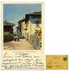 Strada in Roncegno, Philipp & Kramer, Wien, spedita nel 1902 (Ecomuseo Valsugana | Croxarie) Tags: cartolina roncegno roncegnoterme 1902