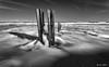 "Pebble Dash (""A.S.A."") Tags: seaham beach countydurham britain coast northeast northeastcoast northsea groynes pebbles infrared830nm slow shutter longexposure sonya7rinfrared830nm canonef1740mmf4lusm heliopancpl leefilters leebigstopper nd110 blackwhite mono monochrome greyscale niksoftware silverefex asa2017"