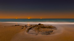 Stanwell Park Beach (ourkind) Tags: writersblock australia royalnationalpark stanwellbeach nightscapenightbeachlong exposuresandrockswaveswateroceanlightsstarsshipsnew south wales nsw visitnsw seeaustralia seensw
