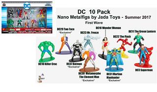 Jada Toys Nano Metalfigs - DC 10 pack  First Wave