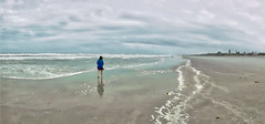 Carmen At Cocoa Beach_1HDR (Ron B Cash) Tags: panorama panoramic ocean seashore cocoabeach hx9v beach shoreline shore hdr