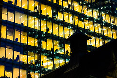Yellow office! (The Ultimate Photographer) Tags: london uk england yellow yellowbuilding office offices yellowoffice lightatnight light yellowlight friday fridayevening atmosphere olympus em1 omd streetphotography ultimatephotographer nobody nobodyleft unusual people nopeople colour yellowcolour cityoflondon art etsy christmas