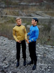 Spirk (HyperLaceAlchemists) Tags: doll dolls mattel kirk spock movie startrek