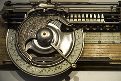 The World Typewriter (Peter Drach (aka PeteDragomir)) Tags: typewriter oldfashioned antique retrostyled old obsolete writing machinery text machinepart nopeople classic closeup author history technology typing typescript thepast document nikon micro55 museum rare
