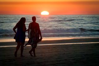 """Walking on sunshine"".  Playa de El Palmar."