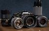 Olympus OM40 + Lenses (Skylark92) Tags: olympus om40 program camera analogue film analoge slr vivitar 135mm 128 fzuiko 50mm 118 sigma 2870mm 13545 tamron 70210mm 145 52mm hoya cirpol