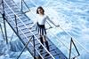 Big splash (jsvamm) Tags: ifttt 500px sea people ocean fashion woman lady female pretty face look young sunny dock melody shoot railing boardwalk balancing working out