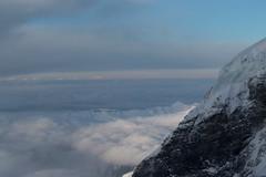 Nollengletscher am Nollen des Mönch ( Gletscher glacier ghiacciaio 氷河 gletsjer ) in den Berner Alpen - Alps ( Westalpen ) ob der Kleinen Scheidegg im Berner Oberland im Kanton Bern der Schweiz (chrchr_75) Tags: christoph hurni schweiz suisse switzerland svizzera suissa swiss chrchr chrchr75 chrigu chriguhurni chriguhurnibluemailch dezember 2017 dezember2017 albumzzz201712dezember mönch kantonbern kantonwallis kantonvalais berg mountain montagne alpen alps berner oberland