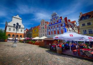 Town Square in Szczecin, Poland