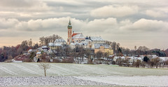 Kloster Andechs, Bayern (Janos Kertesz) Tags: landscape green rural nature agriculture scenic countryside rows tree field country sky hill valley clouds kloster klosterandechs andechs bavaria bayern