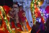Posing with Santa (radargeek) Tags: sulphur oklahoma ok christmasinsulphur 2017 winter kids hugs smile cellphone