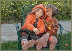 Anne-Moni und Milina ... (Kindergartenkinder) Tags: grugapark essen kindergartenkinder annette himstedt dolls annemoni milina