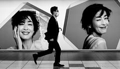 ● (street5dm2) Tags: fuji fujifilm 35mm street photography bw noiretblanc japan metro subway