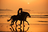 Horses Sunset (Portugal Sport & Adventure) Tags: activity animals beach cowboy heat horizon horseback horses hot man nature orange people rider riding sand sea silhouette silouette sky sport summer sun sunny sunset travel two vacations waves wet yellow morocco