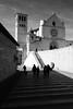 Duomo di San Rufino, Assisi (halifaxlight) Tags: italy umbria assisi duomo cathedral sanrufino saintfrancisofassisi saintclare franciscanorder dagubbio architecture figures silhouettes shadows bw sdie