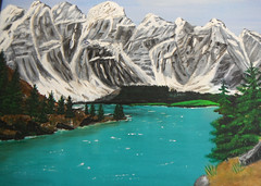 Canadian Rockies ... #pastels (Mr. Happy Face - Peace :)) Tags: art2017 albertabound canada150 cans2s painting arcylics pastels art yyc bowriver banff canmore alberta canada sketch drawing paint blue rockymountains love snowcaps