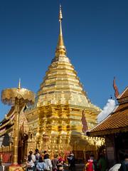 Wat Phra That Doi Suthep, Chiang Mai,Thailand (kkanok403) Tags: olympus em5markii m17mm f18 wat phra that doi suthep chiang mai thailand temple thai north path 17 pagoda