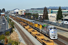 UP PCBOA3-16 (caltrain927) Tags: union pacific railroad passenger special train emd sd70ace spirit uprr veterans unit paint scheme california ca emeryville