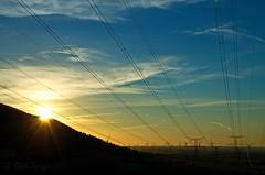 Energy (sergecos) Tags: paysage landscape ciel sky lignes lines nuages clouds soleil sun ligneélectrique