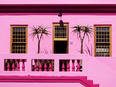 Pink Lady of Bo-Kaap (RobertLx) Tags: building pink window southafrica capetown bokaap africa city house lines architecture
