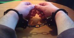 handcuffed arested (catbleu4555) Tags: handcuffed handcuff arested inside