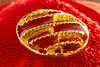 NON E' UN BOTTONE D'OTTONE. (FRANCO600D) Tags: buttons bowl buttonsandbows hmm macromondays bottone rosso red oro dorato