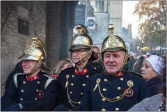 On Duty (Mabacam) Tags: 2017 kent rochester dickens charlesdickens dickensianchristmasfestival celebration character pasttimes firemen firefighters uniforms nurse helmets
