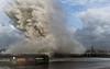 Wave Explosion! (grahamkinnear) Tags: sea high tide nikon d3100 uk new brighton waves storm weather nature wind