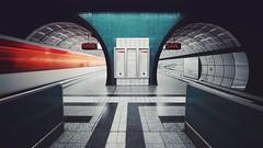 messehallen [pt 2 of 3] (christian mu) Tags: hamburg germany metro subway underground ubahn architecture longexposure vanishingpoint station messehallen haltestellemessehallen christianmu sonya7ii sony 15mm 1545 voigtländer voigtländer1545