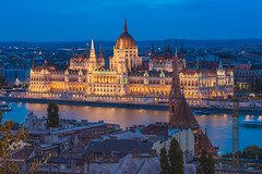 The Parliament at blue hour (Vagelis Pikoulas) Tags: budapest pest parliament hungary europe travel photography landscape city cityscape canon 6d september autumn 2017 view danube architecture building