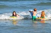 Kids Boogie-Boarding (Joe Shlabotnik) Tags: july2017 higginsbeach violet helent 2017 maine boogieboard everett ocean beach afsdxvrnikkor55300mm4556ged