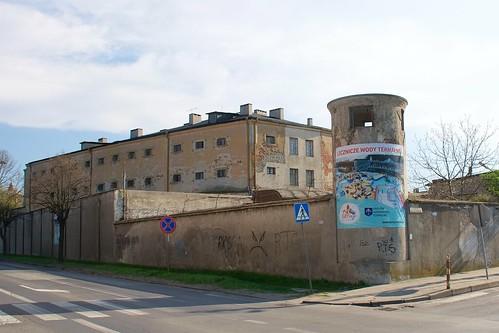 Dawne więzienie w Łęczycy od północnego wschodu