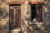 Abandon (minelflojor) Tags: abandon porte fenêtre bois volet pierre mur galets abandonment door window wood shutter stone wall pebbles france