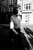 Cut-in-Half (marcin baran) Tags: man human person walk walking city urban street streetphotography candid candidphotography bw black blackwhite blackandwhite shadow shadowplay symmetry pov fuji fujifilm fu fujix100 x100t x100 gliwice poland polska