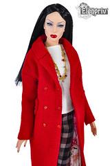 Red coat looks perfect on Sybarite Vivir (elenpriv) Tags: sybarite vivir superdoll superfrock 16inch genx elenpriv elena peredreeva handmade red coat