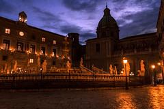 Piazza della Vergogna (ilsiciliano_) Tags: sunset night palermo sicilia italia canon place piazza