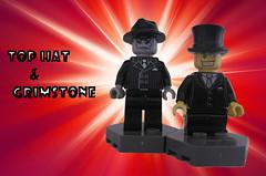 Top Hat & Grimstone (Quickblade22) Tags: supervillains comics comicbook custom brickforge brickwarriors brickfortress
