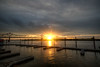 Sunrise over the Illinois River (ap0013) Tags: sun sunrise sunset illinois peoria river illinoisriver murray baker bridge murraybakerbridge peoriail peoriaillinois landscape hdr cloud cloudy autumn